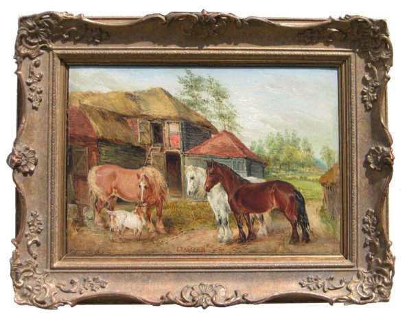 # 4237 Pair of Superb Horse Paintings