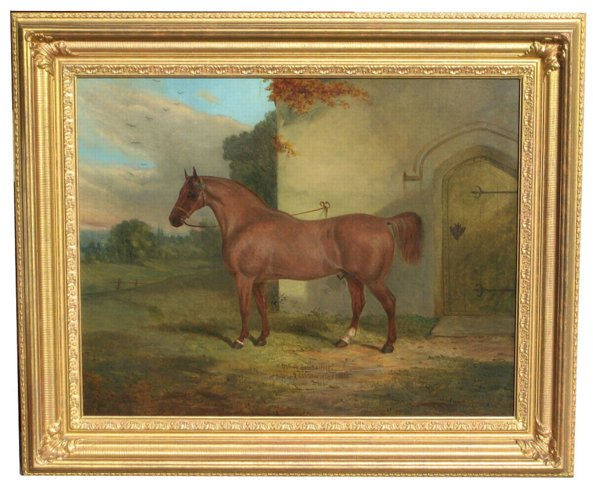 # 4223 Horse in a Courtyard by Richard Whitford