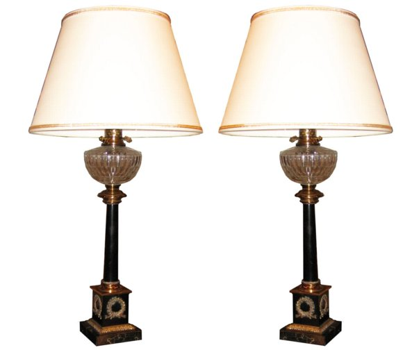 # 3866 Pair of Empire Lamps