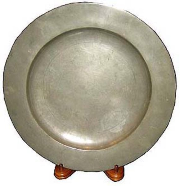 # 3704 Pewter Plate
