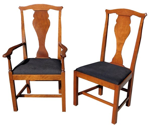 # 2616 Set of 12 Cherry wood Chairs