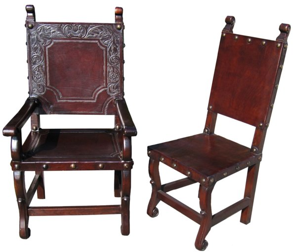 # 3577 Set of Six Leather Chairs