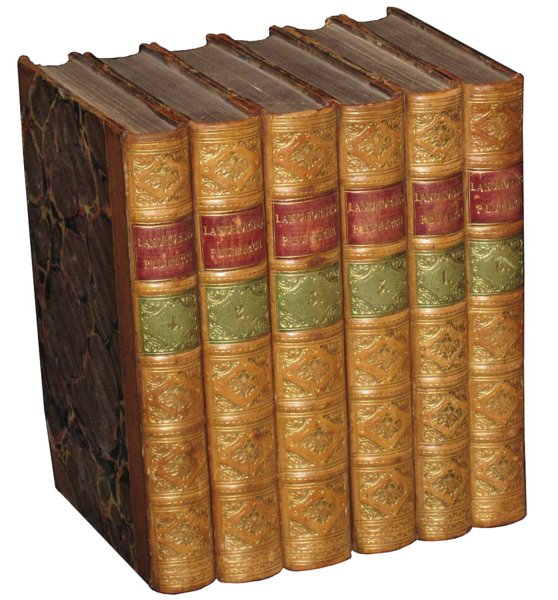 # 4580 Set of 6 Langhorns Plutarch Books