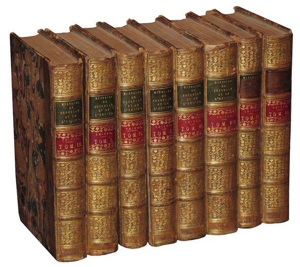 # 4578 Set of 8 Histoire du Consulat L'Empire Books