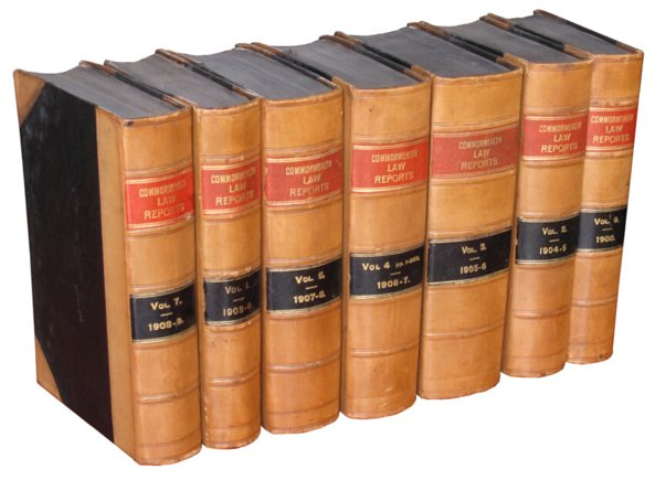 # 3882 Set of 7 Commonwealth Law Reports Books
