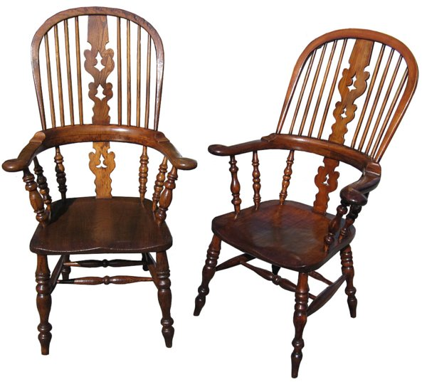 # 1026 Set of 4 Windsor Broad Arm Chairs