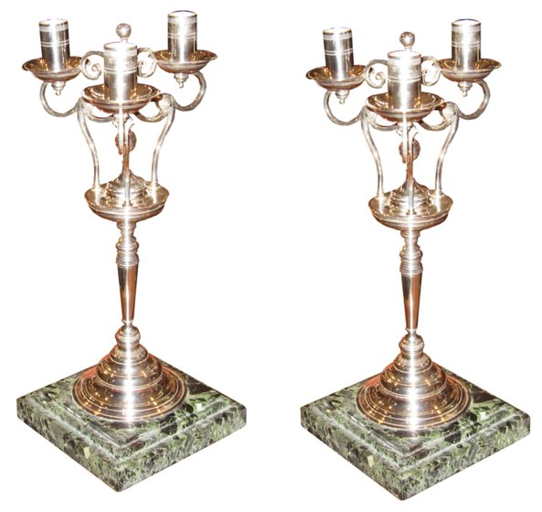 # 4687 Pair of Silver Candelabras