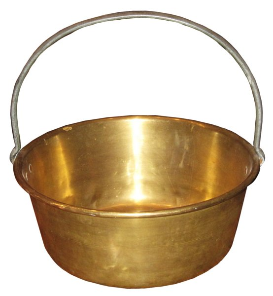 # 4813 Brass Bucket with Steel Handle
