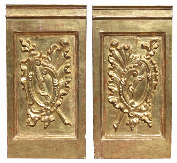 # 4801 Pair of Baroque Carved Wall Panels