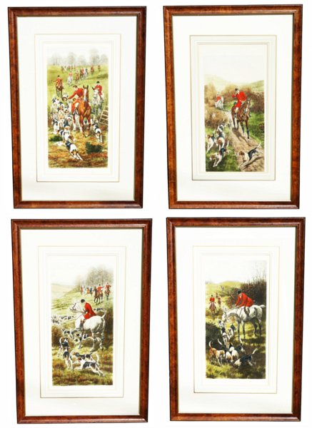 # 1380 Set of Four Hunting Scenes