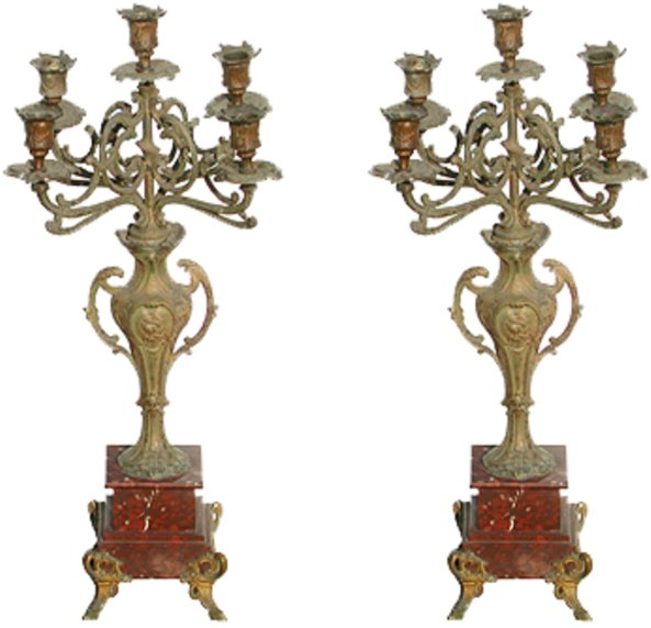 # 2650 Pair of Candelabras