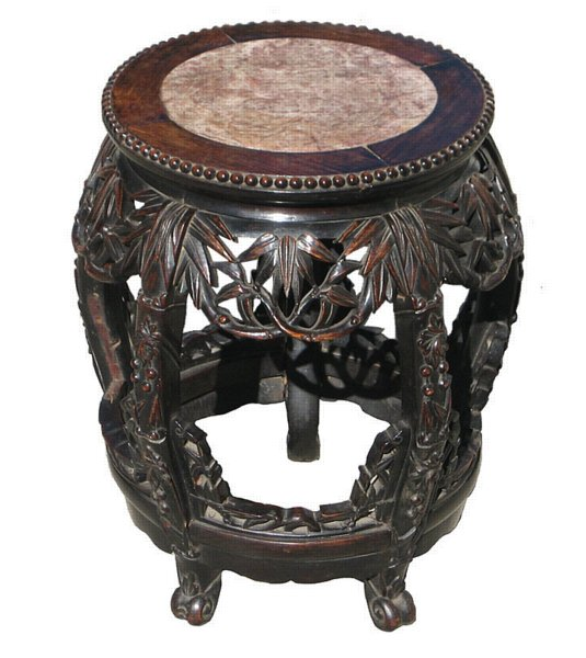 # 4199 Carved Stool