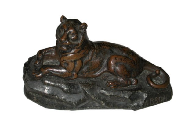 # 2685 Bronze Tiger Sculpture