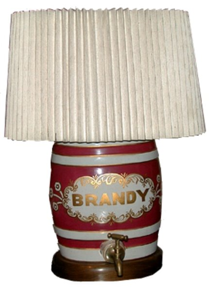 # 1250 Small Brandy Barrel Lamp