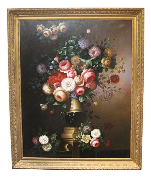 # 4423 Large Floral Painting