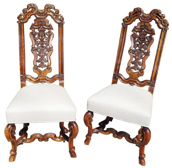 # 4862 Pair of Carved Side Chairs