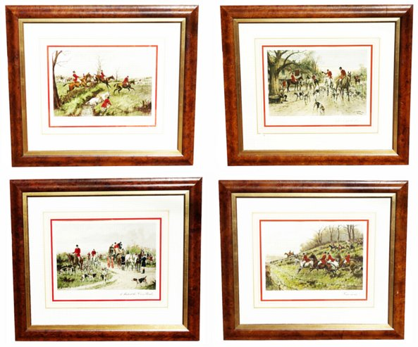 # 1256 Set of Four Watercolor Prints