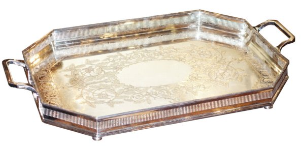 # 5097 Silver Tray with Handles