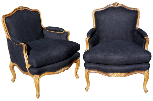 # 4766 Pair of Bergere Armchairs