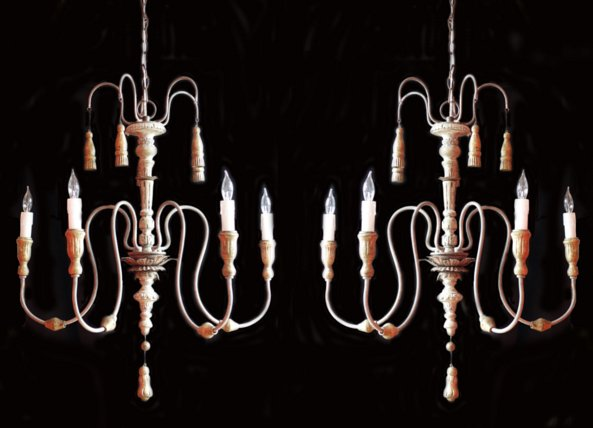 # 5153 Pair of Chandeliers (wired)