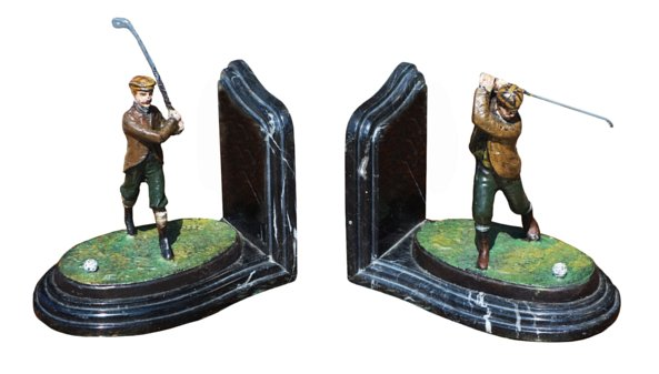 # 5311 Pair of Golfer Bookends