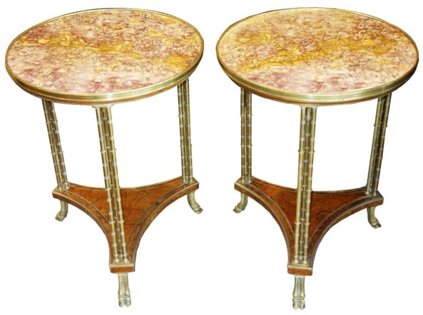 # 5325 Pair of Louis XVI Gueridon Tables