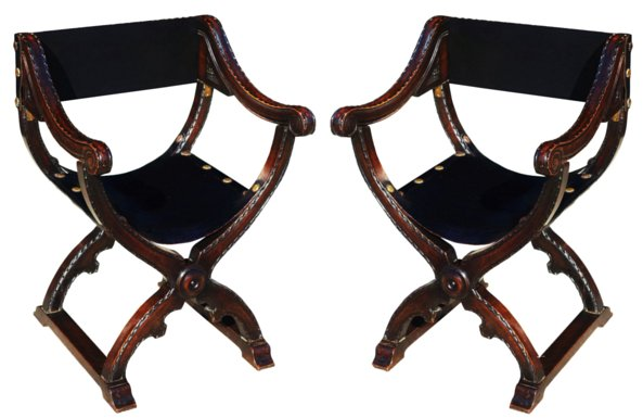 # 5314 Pair of Savanarola Armchairs