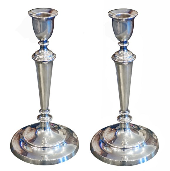 # 5350 Pair of Vintage Sterling Silver Candlesticks
