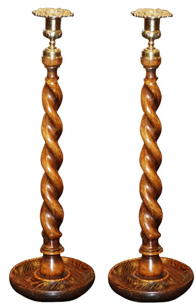 # 5364 Pair of Open Twist Candlesticks