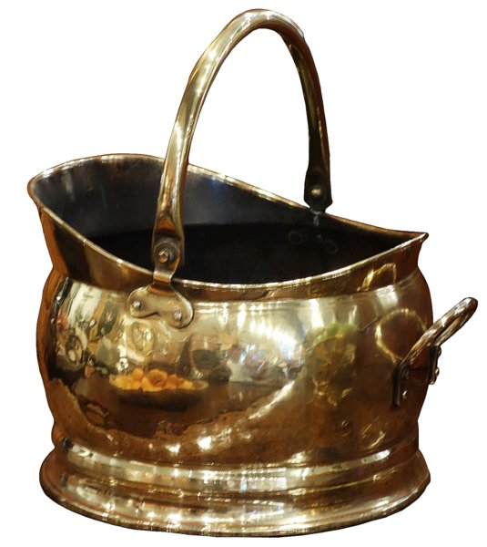 # 5369 Brass Bucket with Handles