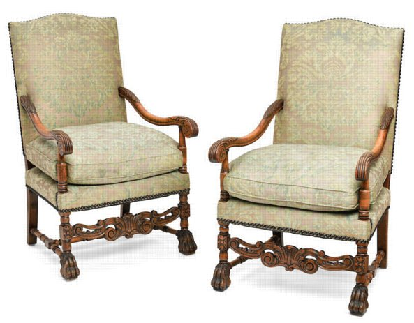 # 5386 Pair of Baroque Armchairs
