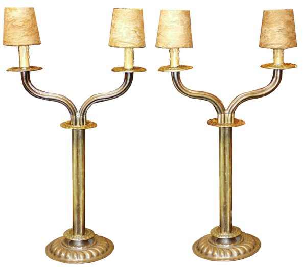 # 5414 Pair of Brass Lamps