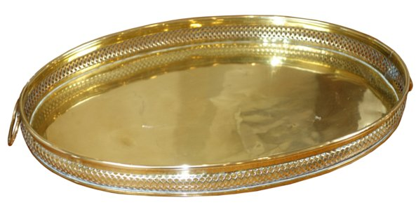 # 5424 Oval Brass Tray with Handles