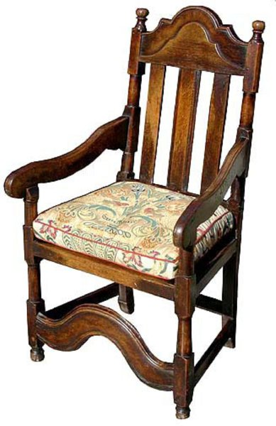 # 3495 Early Armchair with Splat Back