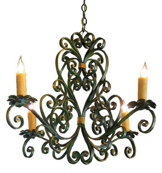 # 3471 Wrought Iron Chandelier (wired)