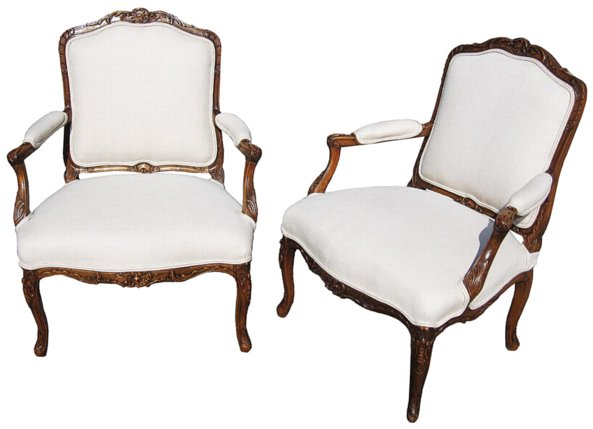# 3775 Pair of Bergere Armchairs