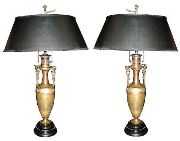 # 3969 Pair of Bouillotte Lamps